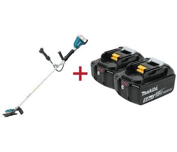 2 аккумулятора в подарок при покупке электрокос Makita