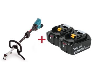 2 аккумулятора в подарок при покупке мотоблока Makita