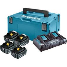 Аккумуляторы 4 шт. BL1840B + зу DC18RD + Makpac 2 Makita 198489-5 (18 В, 4.0 Ач, Li-ion)