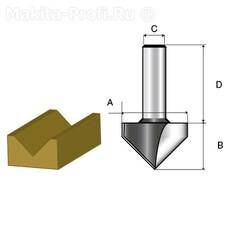 Фреза для V-образных пазов Makita D-10687