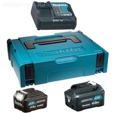 Аккумуляторы BL1040B2 шт. + з/у DC10SA + кейс Makpac Makita 197637-3