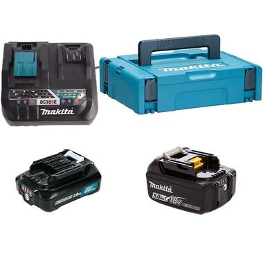 Набор аккумуляторов и зар.уст-ва  в кейсе (BL1850Bx1шт., BL1021Bx1шт., DC18RE, кейс MAKPAC тип 2) Makita 199024-2 фото