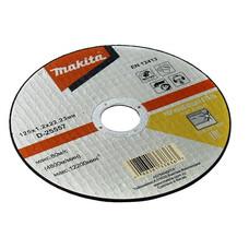 Абразивный отрезной диск для нержавеющей стали плоский A60T, 125х1,2х22,23 Makita D-25557